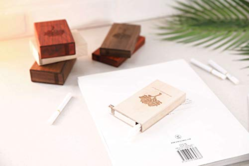 Value Handmade Handcrafted Slim Wooden Cigarette Box, Pocket Carrying Cigarette Case, Brown (Maple Wood) by Value Handmade (Image #5)