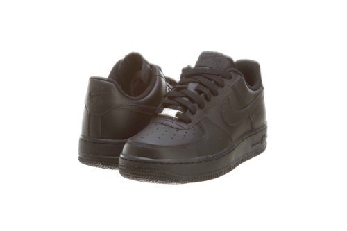 Nike Unisex Air Force 1 GS Leather Fashion Sneakers (Black, 4.5 US Kids) (Air Force 1 Hi)