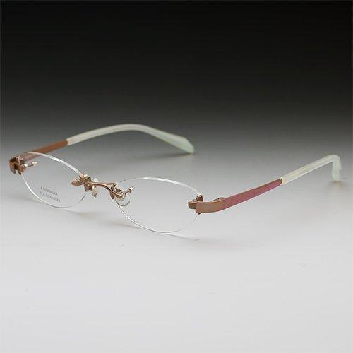 鯖江ワークス(SABAE WORKS) 老眼鏡 ツーポイント ブラウン ケース付き NT539C2 (度数+3.50, ブルーライトカット) 度数+3.50 ブルーライトカット B06VYFGPDJ