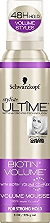 Schwarzkopf Stylist Ultima Biotin Volume Mousse, 8 oz. Dial Corporation 17000122908