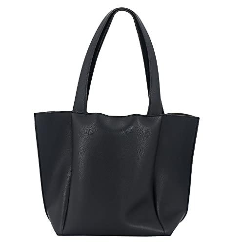 UERRUAM Leather Tote Bag for Women Black...