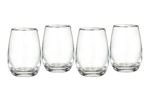(Marquis by Waterford Vintage All Purpose Stemless Wine, Set of 4)