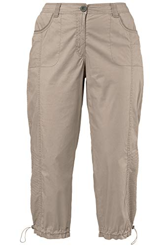 Ulla Popken Women's Plus Size 3/4 Length Cargo Pants Ginger Khaki 18 697712 24