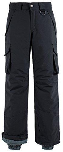 Wantdo Men's Waterproof Padding Insulated Snowboard Pants Cargo Pants, M, Black