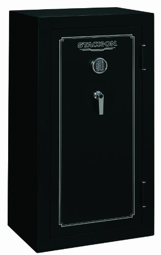 Stack-On FS-24-MB-E 24-Gun Fire Resistant Safe with Electronic Lock, Matte Black