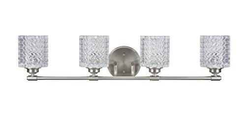 Aspen Creative 62059, Four-Light Metal Bathroom Vanity Wall Light Fixture, 31 1/2