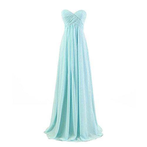 Lemai Sweetheart Pleats Long A Line Corset Formal Women Prom Bridesmaid Dresses Aqua - Dress Juniors Aqua