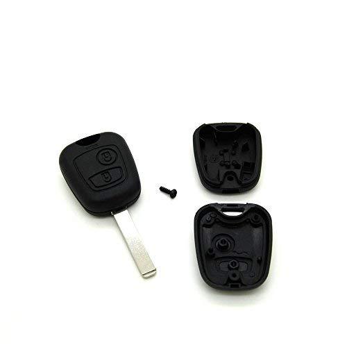 Carcasa para llave con telemando para Peugeot 107, 207, 307, incluye espadín virgen