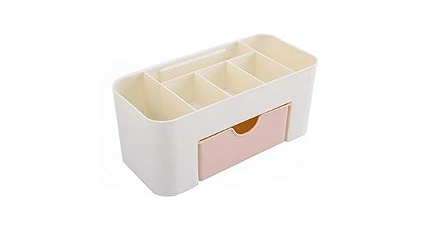 Organizador de escritorio con cajones, soporte para bolígrafos, tarjetero, caja multifuncional, compartimento de almacenamiento, caja de cosméticos: Amazon.es: Amazon.es