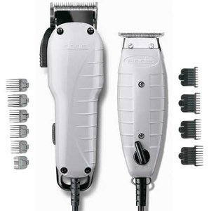 Andis Barber Combo-Powerful Clipper and Trimmer Kit, High...
