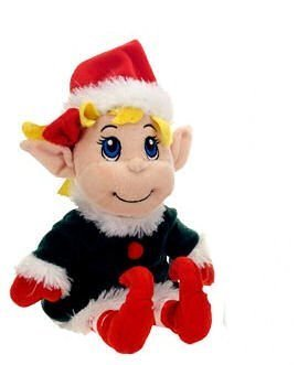Fiesta toys plush santa's secret elf girl 11