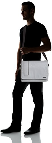 Calvin hombre piel de Bolso MESSENGER Grau ASHER Klein sintética hombro Jeans CITY Gris de Grey 030 qwzRrqHxfP