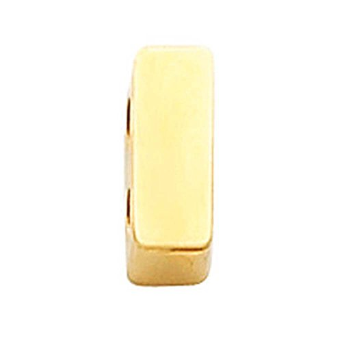 Plain Bracelet Slide in 14K Yellow Gold 14kt Bracelet Slide