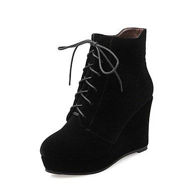LFNLYX Mujer-Plataforma-Plataforma-Botas-Vestido / Casual-Piel-Negro / Rojo Black