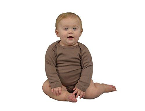 Monag Unisex Baby Bodysuits (6-12M, Mocha)