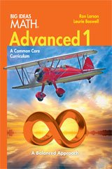 BIG IDEAS MATH Advanced 1: Common Core Student Edition 2014 by HOUGHTON MIFFLIN HARCOURT