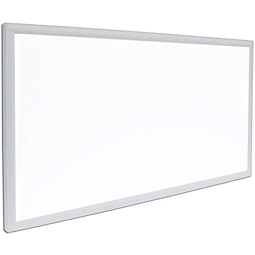 "Rectangle LED Panel Recessed in Ceiling Tile Light or Ceiling Thin Flush Mount Lighting in Laundry Garage Workshop Office | DLC Certified Bright Downlight (24"" x 48"")"