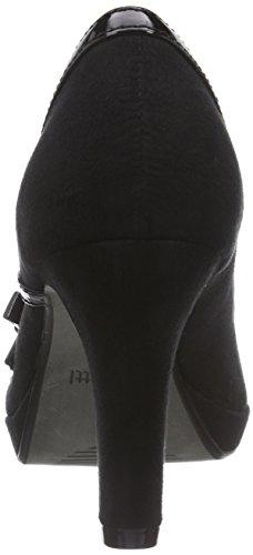 à 100 Schwarz avec Talons Noir Femme Plateau Chaussures Bugatti V4965PR6VL EHqzUU