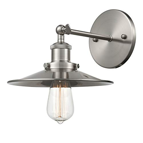 - Light Society Cressley Wall Sconce, Brushed Nickel Finish, Modern Industrial Lighting Fixture (LS-W128-SN)