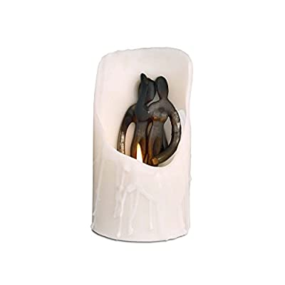 "Design Ideas Spirit Candles- Hidden Sculpture White Pillar Candle, Embrace - Measures 7.8"" x 3.7"" x 3.1"" Suitable for Christimas or Hanukkah, Birthday, Anniversary, Wedding, Other Approximate burning/life of candle is 20 hours, Unscented - living-room-decor, living-room, candles - 31SrYIwl2TL. SS400  -"