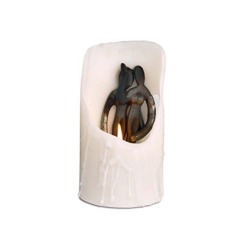 Design Ideas Spirit Candles- Hidden Sculpture White Pillar Candle, Embrace (Sculpture Candle)