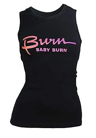 Burn Activewear Black Round Neck Tank Top For Women