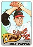 1965 Topps Regular (Baseball) Card# 270 Milt Pappas of the Baltimore Orioles ExMt Condition