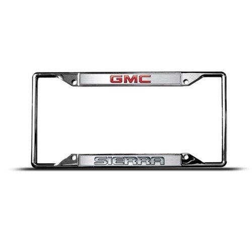 Gmc Sierra Metal Zinc License Plate Frame Tag Holder Tag Holder