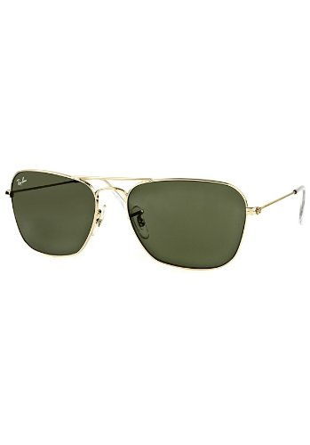 Original New Ray-Ban RB3136 001 Gold Frame Grey Green Lens Sunglasses 55