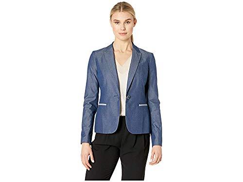 Tommy Hilfiger Women's Cotton Shirting Elbow Patch Jacket Indigo 8