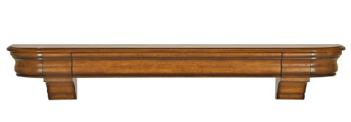 Pearl Mantels 415-72-50 Abingdon Wood 72-Inch Fireplace Mantel Shelf, Medium Distressed Oak