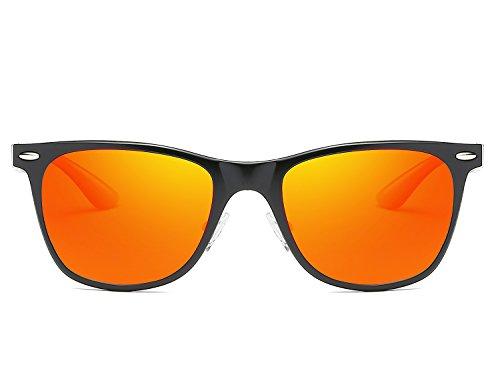 Arancione Al Gafas Deportivas de Polarizadas Bmeigo UV Protección Lentes Unisex sol Marco Hombre Vintage de metal Mg Conducción ZzwFxT