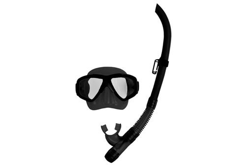 Deep See Adventure Snorkeling Silicone Set (Black/Black) - Deep See Adventure Mask