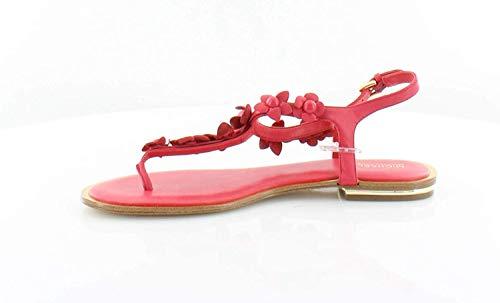 Kors Thongs Leather Michael (Michael Michael Kors Womens Tricia Thong Leather Split Toe, Deep Pink, Size 6.5)