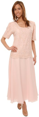 The Evening Store Great Tea Length Dress in Pink (Evening Mother Of The Bride Dresses)