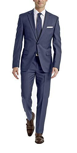 Calvin Klein Men's X Fit Stretch Slim Suit, Deep Blue, 44 Regular