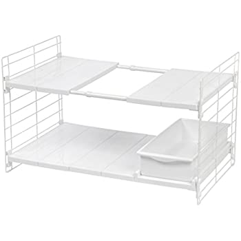 IRIS USA, Inc. Expandable Undersink Organizer With One Sliding Drawer