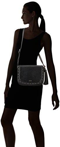 MTNG Colly, Bolso Bandolera Mujer, Negro (Yini Negro/Noru Negro), 23x22x7.5 cm (W x H x L)