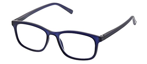 Peepers Men's Mogul 2321175 Square Reading Glasses, Navy, 1.75