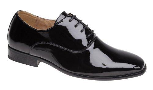 Mens Evening / Uniform / Oxford shoes Black Patent size 9