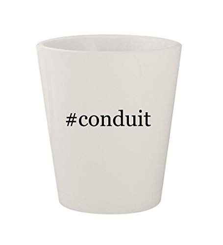 #conduit - Ceramic White Hashtag 1.5oz Shot Glass