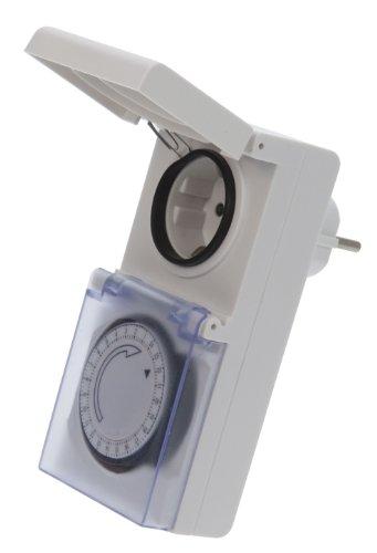 Vollmer Elektromechanische 24-h Zeitschaltuhr für Aussen weiss