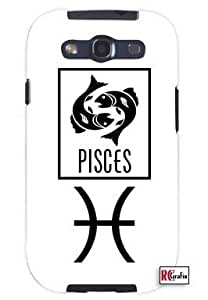 Cool Painting Pisces Sign Zodiac Horoscope Symbol Unique Quality Hard Snap On Case for Samsung Galaxy S4 I9500 - White Case
