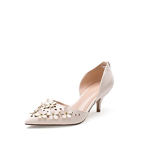 PUMPS Fine Heel Fashion Shoes,Koreanische Womens Shoes-A Fußlänge=24.3CM(9.6Inch)