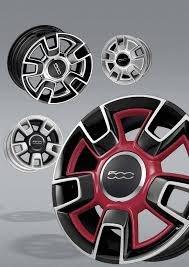 Fiat 500 Center Wheel Cap Red Pack of 4