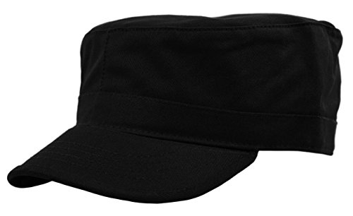 - Deewang Daily Wear Men's Army Cap, Cadet Military Style Hat (Large, Black)