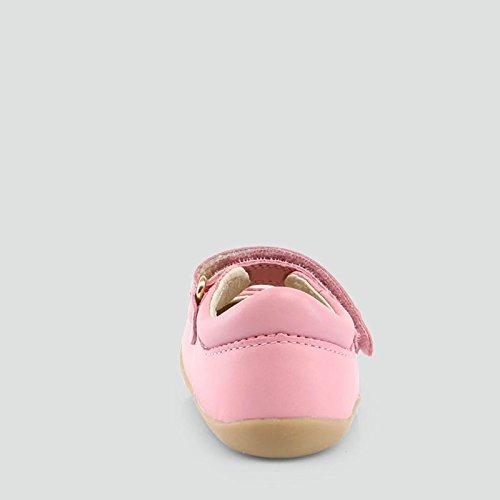 BOBUX - Ballerine rouge, en cuir respirant, extrêmement flexible, fille, bébé, enfant