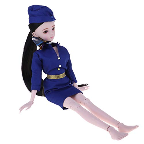 DYNWAVE 60cm BJD Girl 1/3 Scale 23-Joints Female Full Set, Includes Costume & Wig Accessories | Birthday Gift,Valentine Gift, Home -