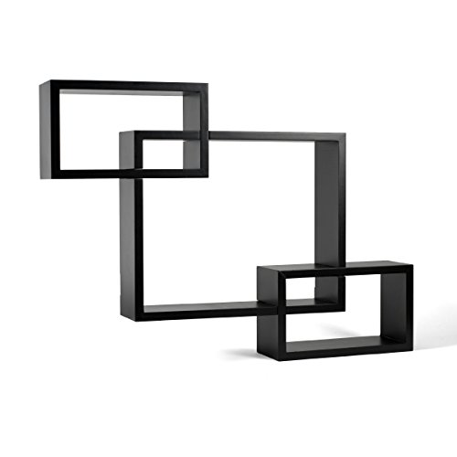MELANNCO Interlocking Shelves (Espresso, Set of 3) by MELANNCO