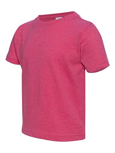 (Rabbit Skins RS 3321 Toddler SS Jersey TEE, Vintage HOT Pink, 4T)